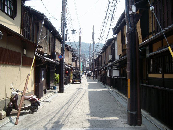 A side street in Kyoto's Gion district