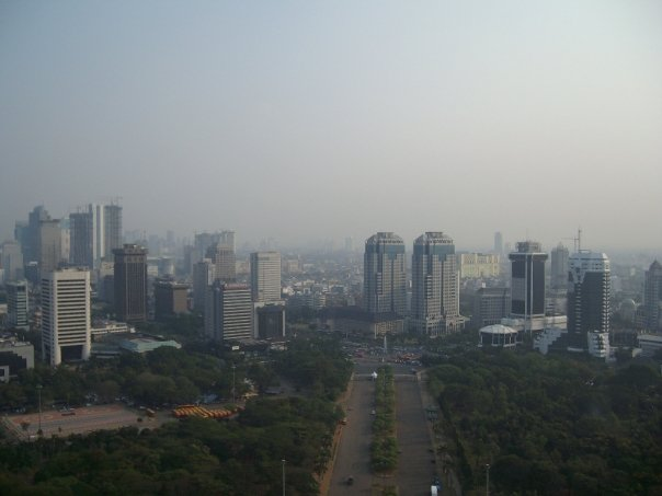 Jakarta's skyline as seen from the National Monument