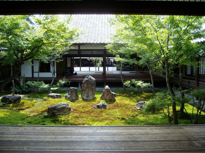One of the Zen gardens at Kyoto's Kenninji temple
