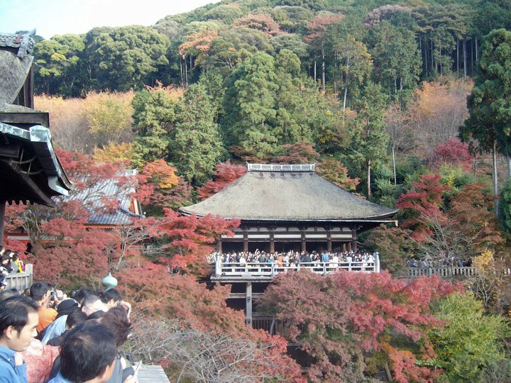 The autumn colours at Kiyomizu temple, Kyoto