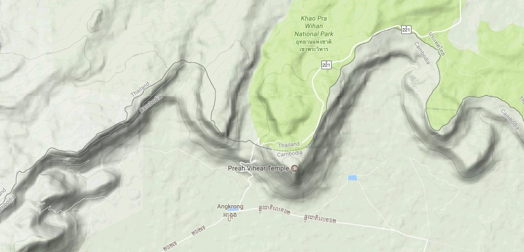 Google Maps screenshot showing the location of Preah Vihear