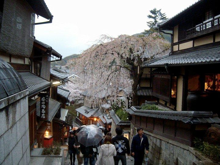 The Sannenzaka steps in Kyoto's Higashiyama district