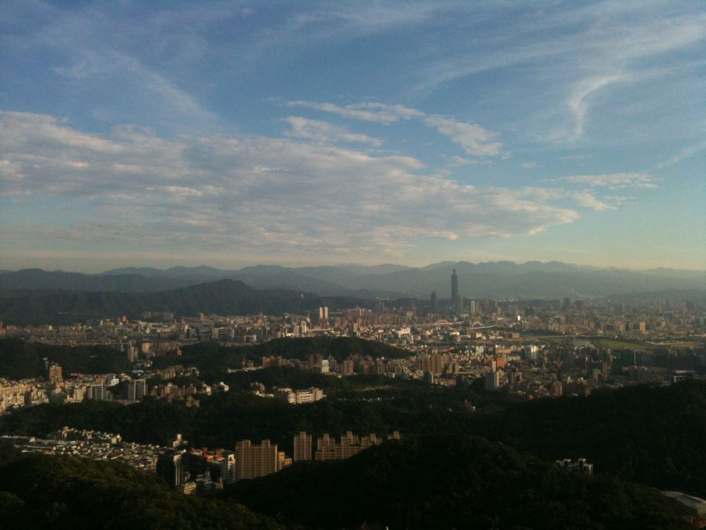 Amazing view over Taipei from Bishan temple