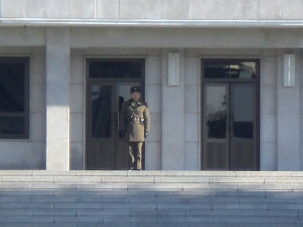North Korean soldier on guard, DMZ
