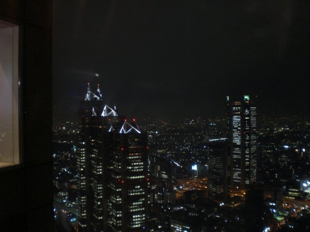 Night view of Tokyo from the Shinjuku NS building