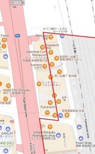 Shinjuku walking tour map, Omoide Yokocho