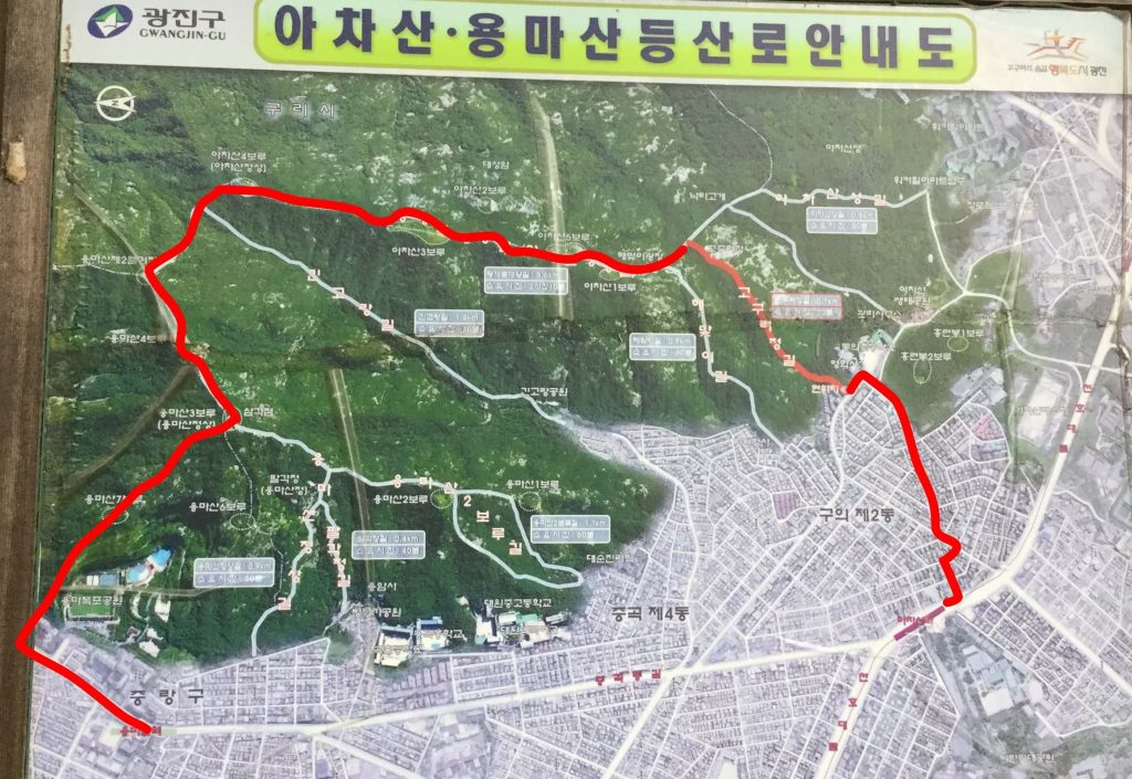 Achasan hiking map