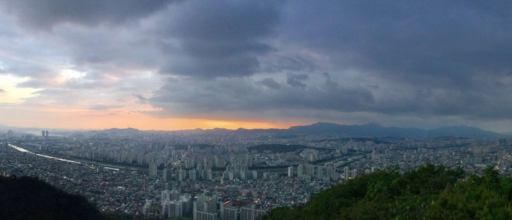View from the top of Yongmasan