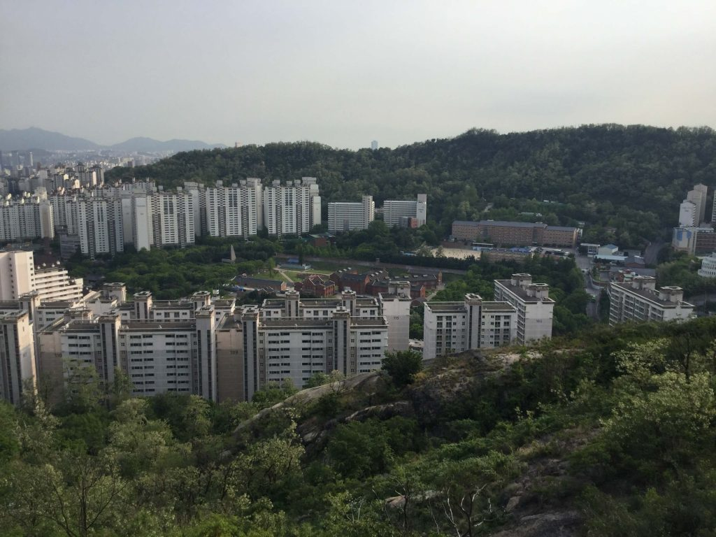 View of Seodaemun Prison from Inwangsan