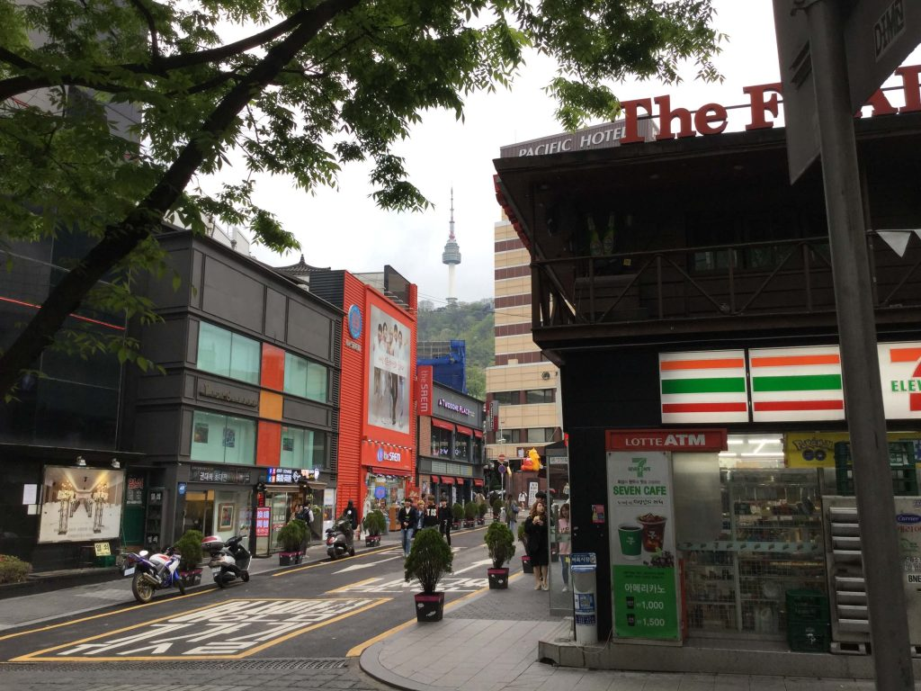 View of Namsan from Myeongdong