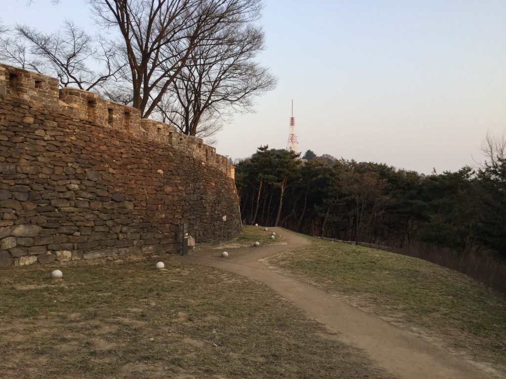 The Seoul Fortress Wall at the top of Namsan