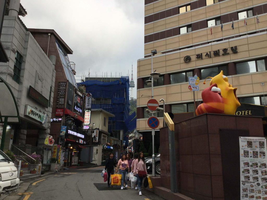 Myeongdong comic street