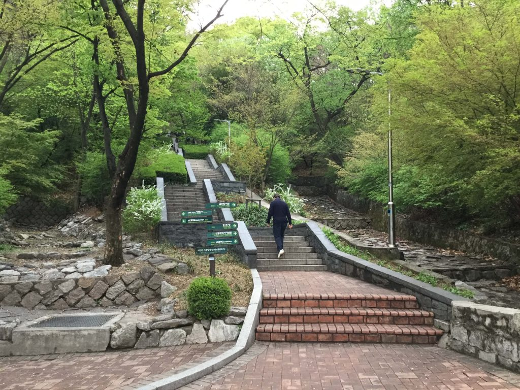 Start of the main Namsan hiking trail