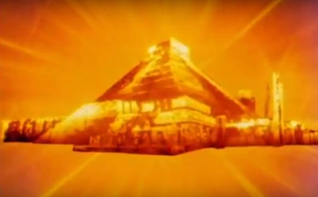 The main pyramid at Chichen Itza, as seen in the Mysterious Cities of Gold intro