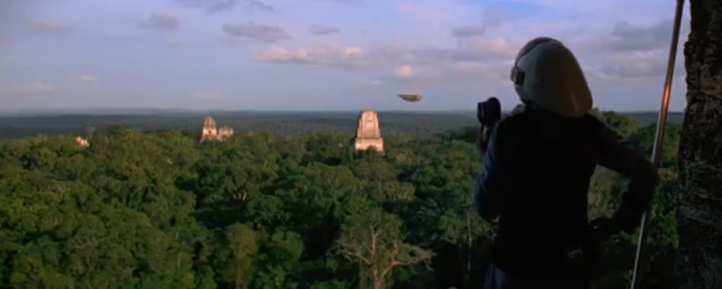 The pyramids of Tikal as seen in Star Wars