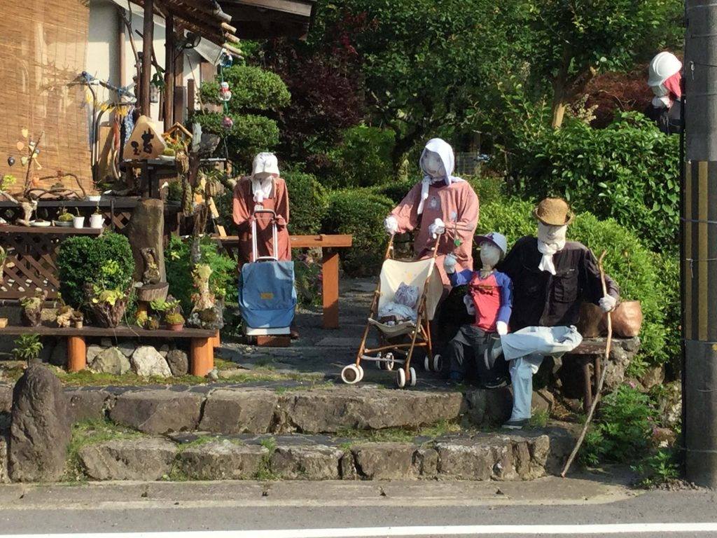 A family of life-size dolls in Shizuhara