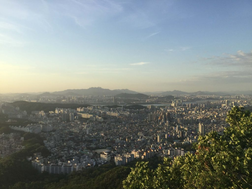 City view from Gwanaksan