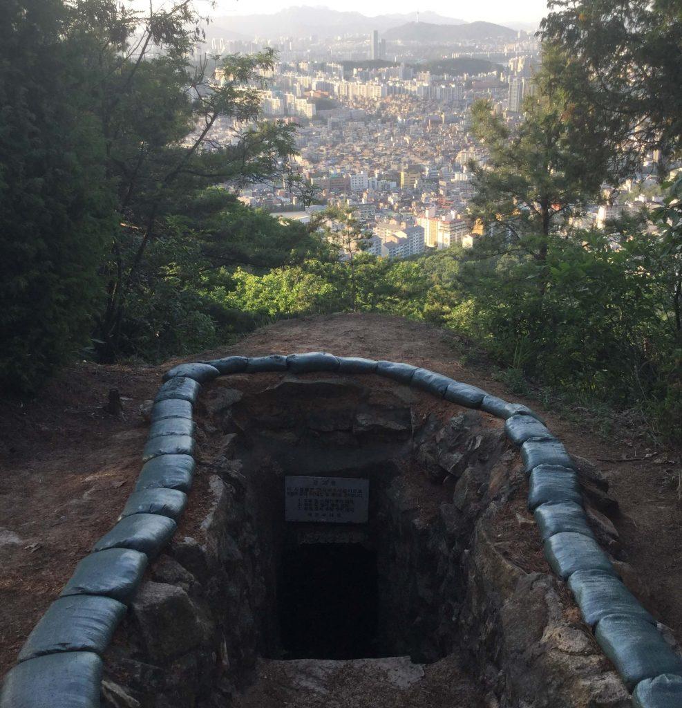 Military bunker on Gwanaksan