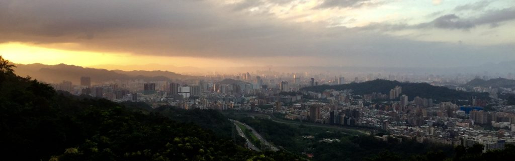 Sunset view from Zhangshan Temple