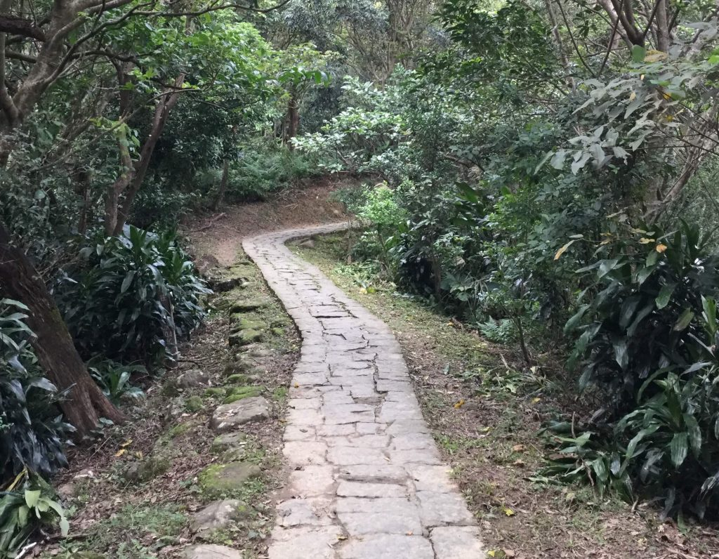 The trail to Zhangshan Temple