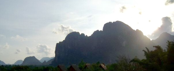 The limestone karst of Vang Vieng