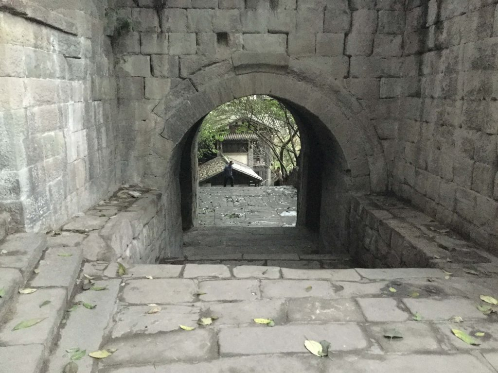 Old guild hall area in Chongqing