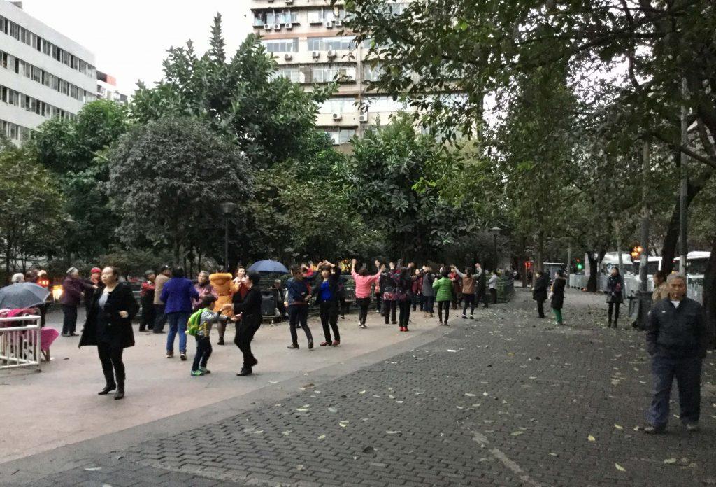 Public dancing in Chongqing