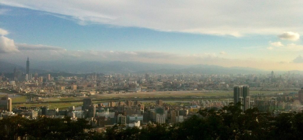View of Songshan Airport from Jinmian Rocks