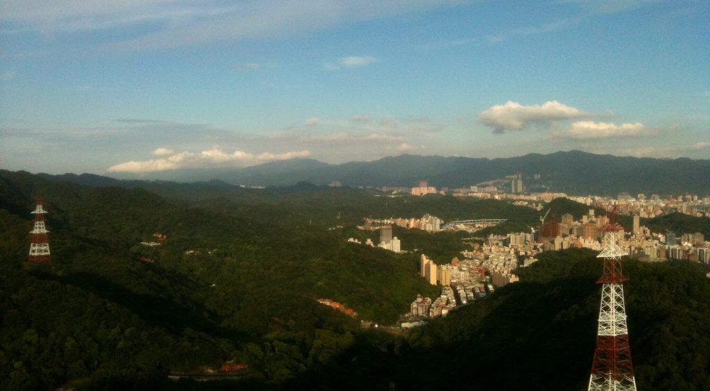 View of Neihu from Jinmian Rocks