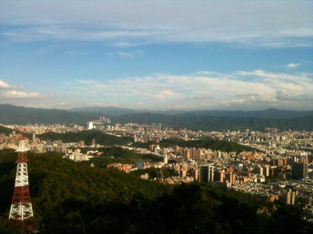 View over Neihu from Jinmian Rocks