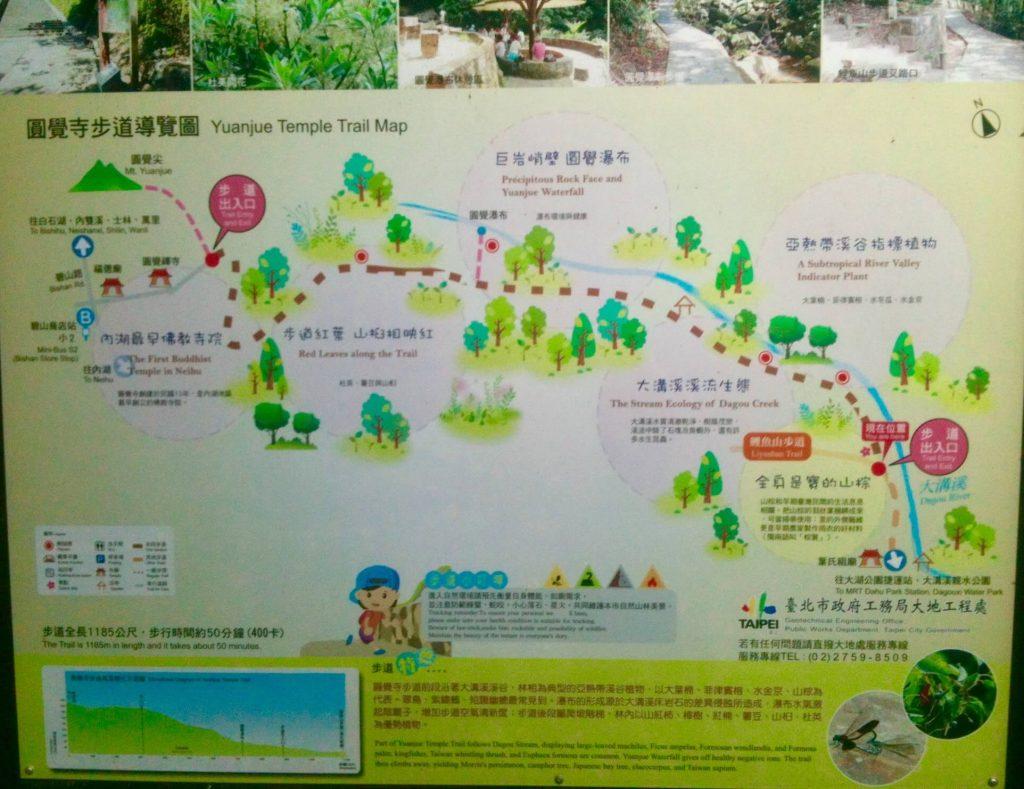 Yuanjue Trail map