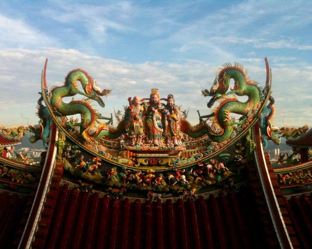 Roof detail, Bishan Temple