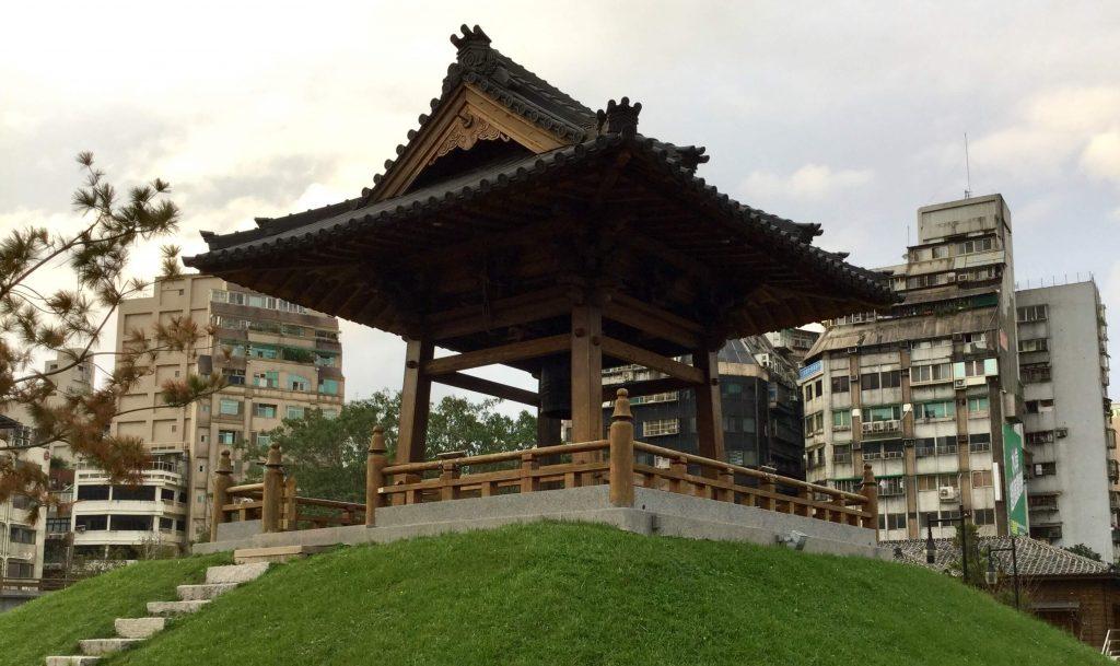 Old Japanese temple bell, Ximen, Taipei