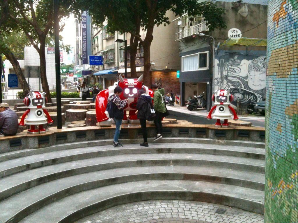 The music robot in Zhongshan, Taipei