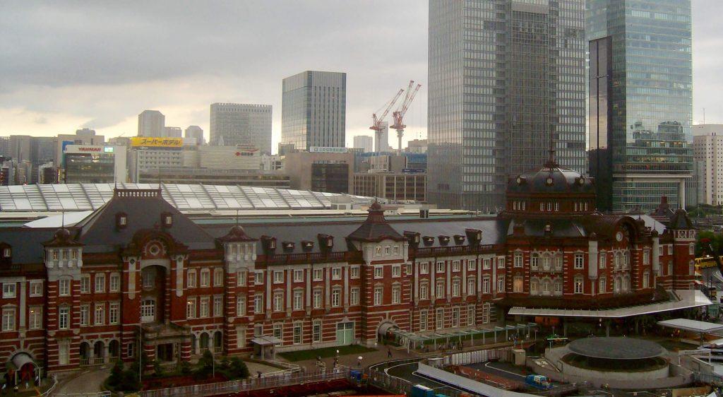 The restored Meiji Era facade of Tokyo Station