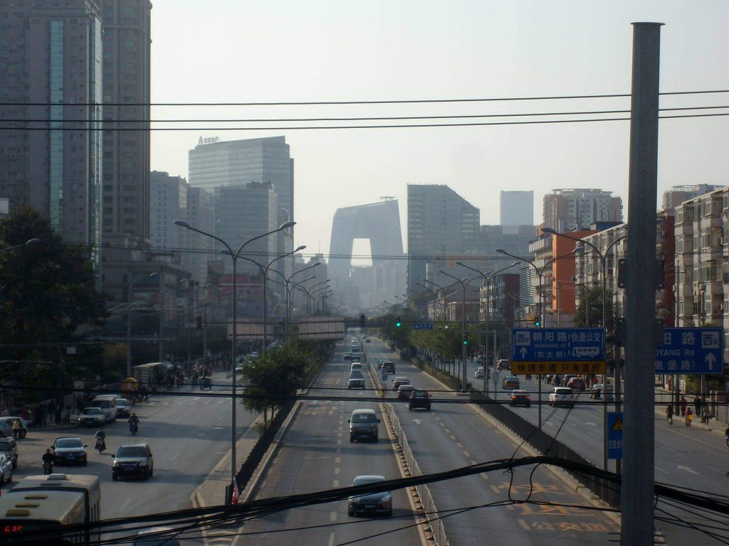 Beijing on a clear pollution day