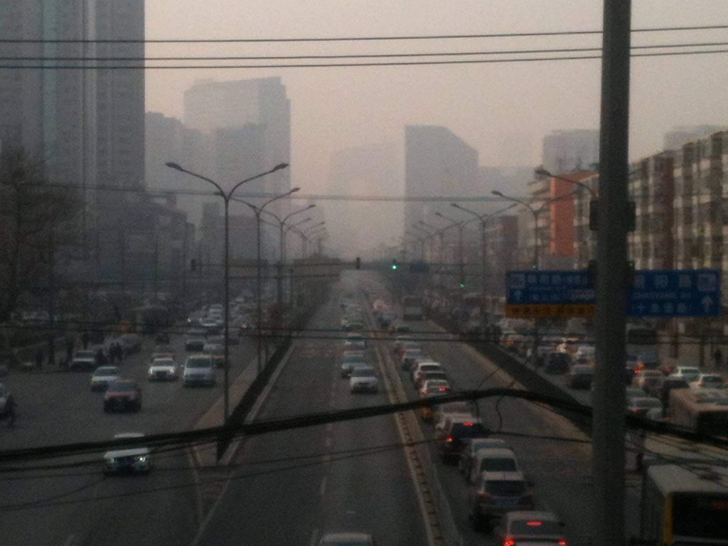 Beijing on a moderate pollution day