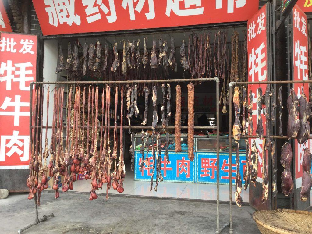 Butcher shop in Songpan