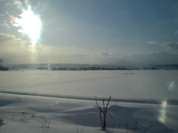 On the train across Hokkaido