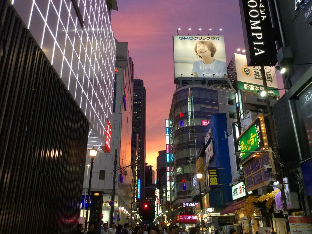 Sunset in Shinjuku