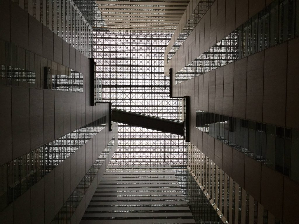 The Shinjuku NS Building atrium