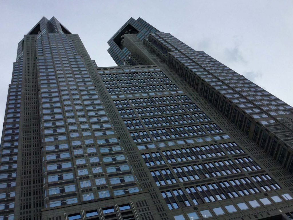 The imposing Tocho (Tokyo Metropolitan Government Building)