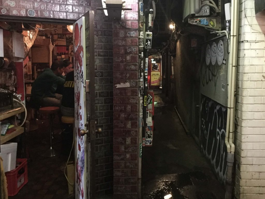 Bars and alleys in Golden Gai