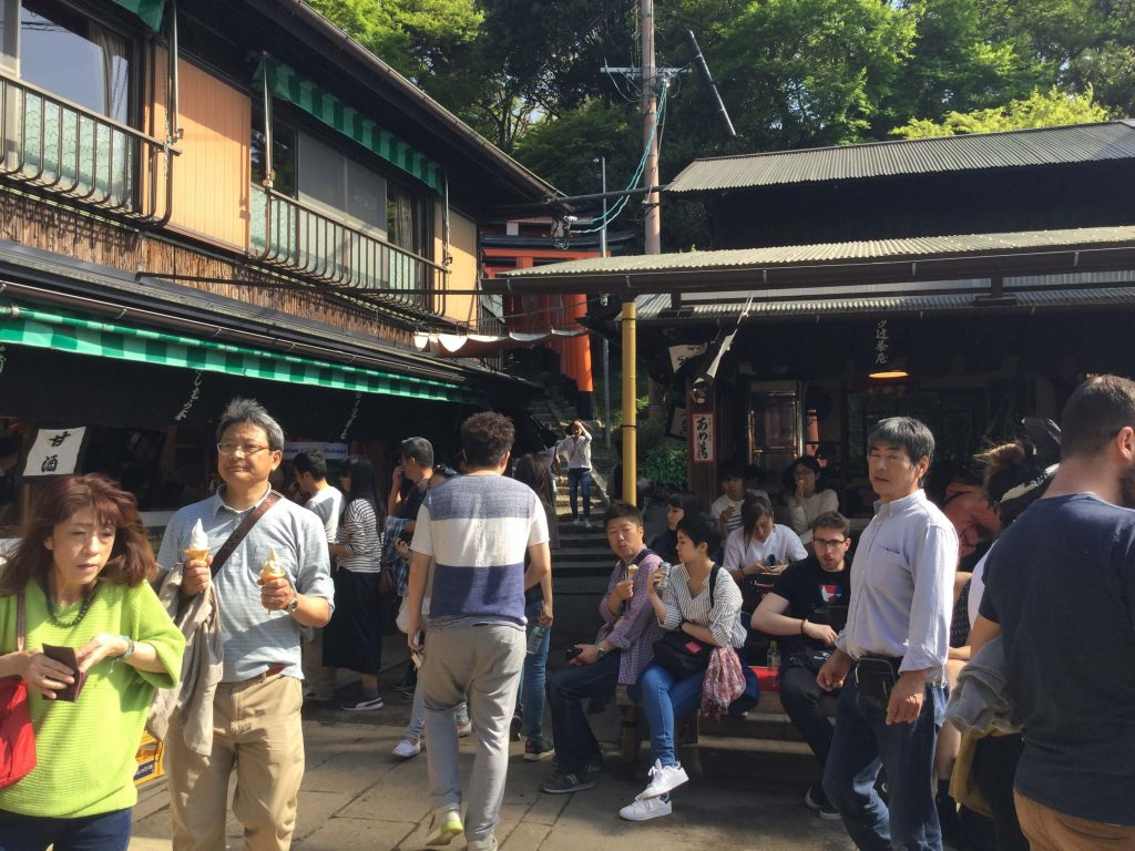 Teahouses at Fushimi Inari's Yotsusuji intersection