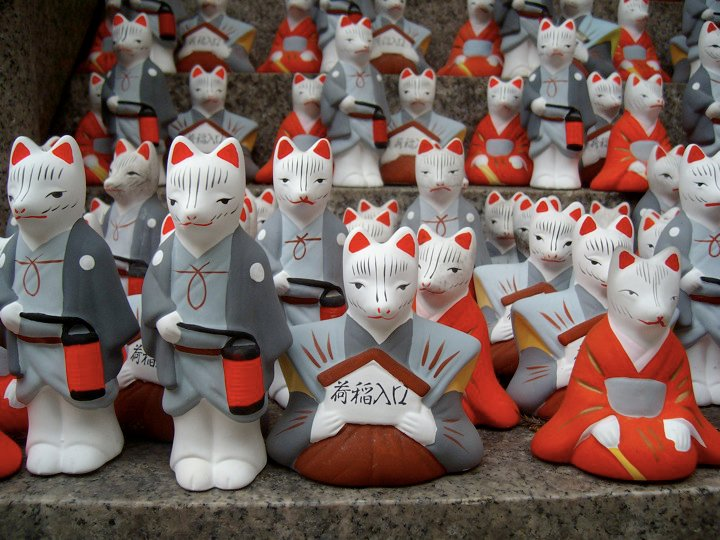 Fushimi Inari foxes