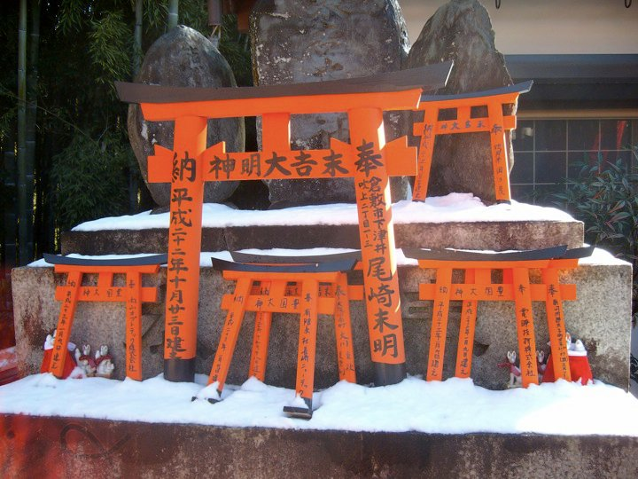 Fushimi Inari in the snow