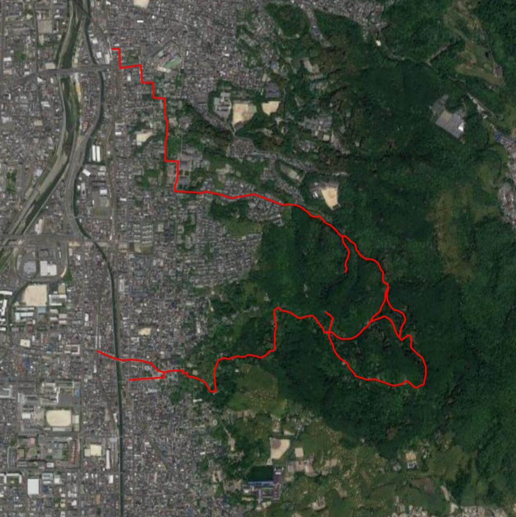 Fushimi Inari to Tofukuji Map