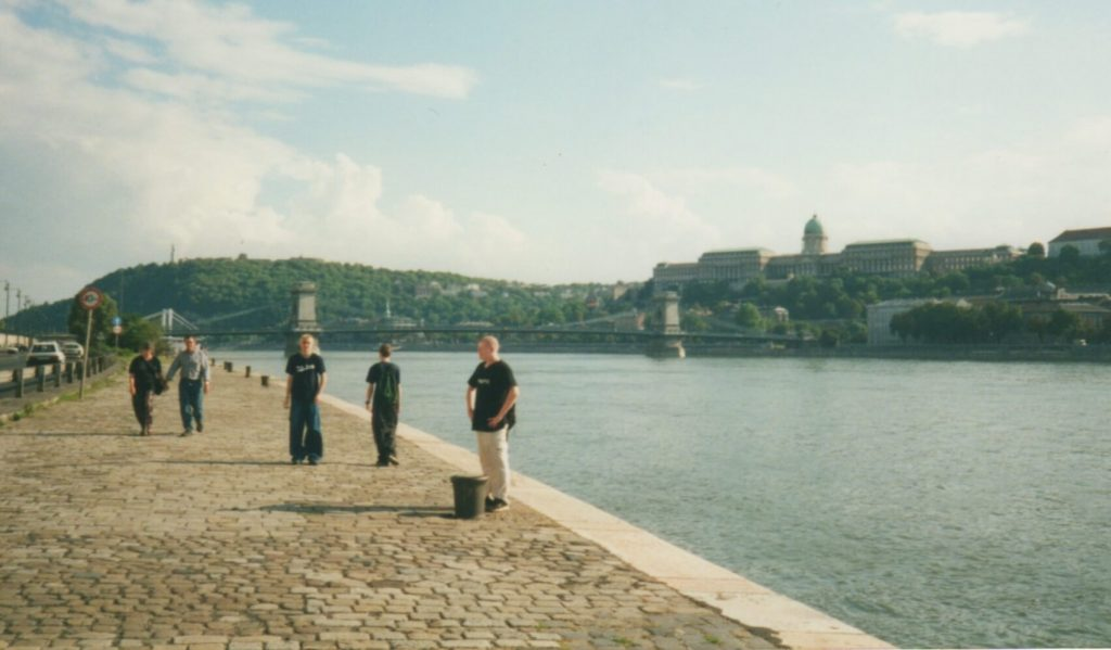 Walking along the banks of the Danube in Budapest