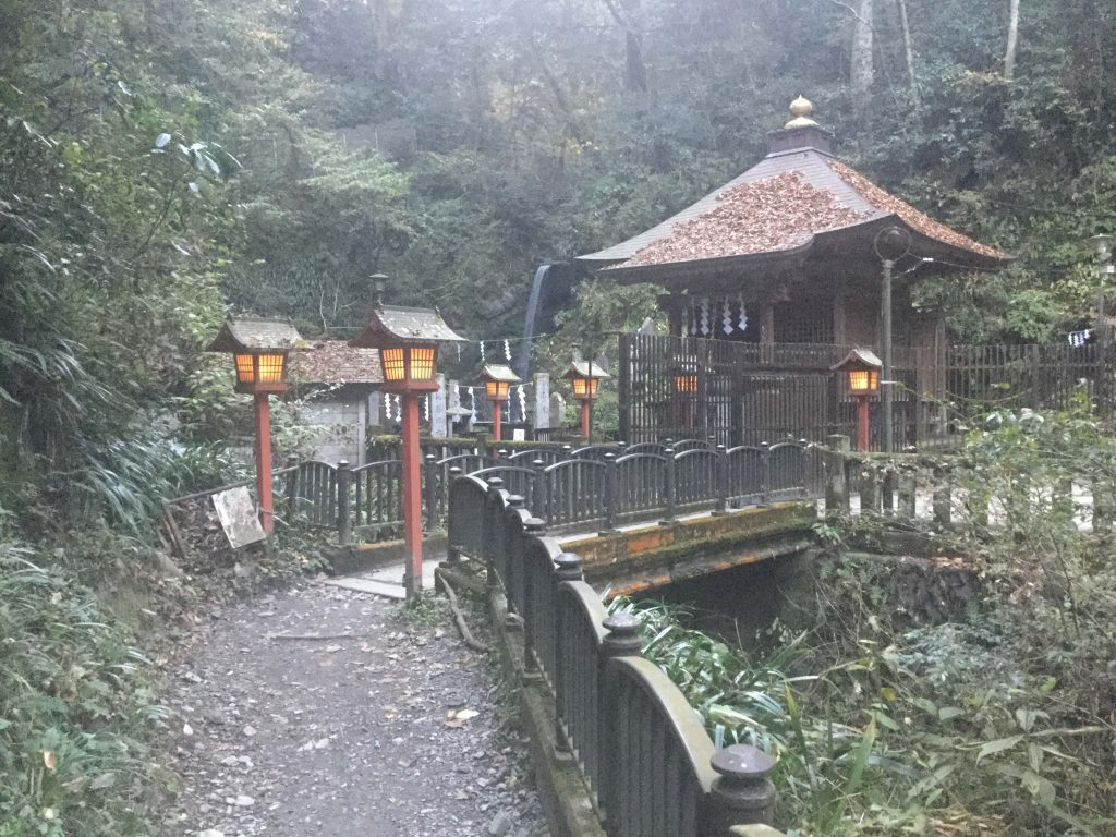 Waterfall shrine on Mt Takao