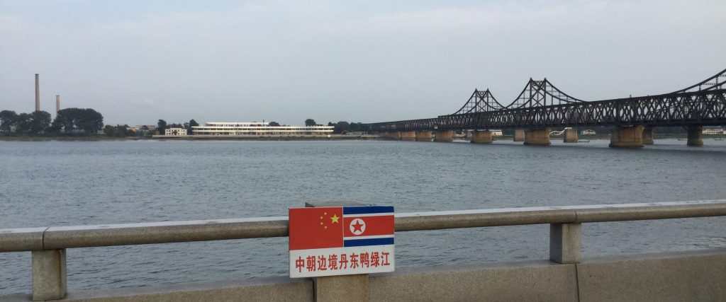 Looking across the Yalu River to North Korea